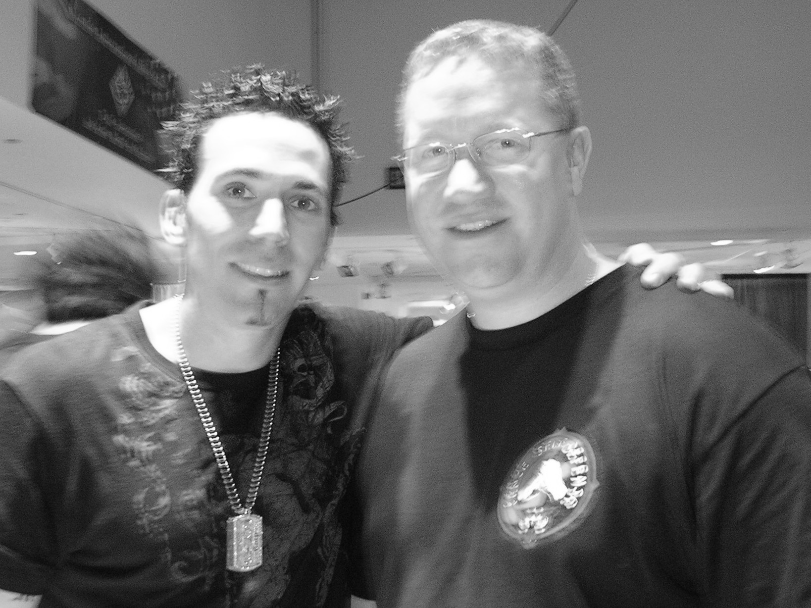 Jason David Frank and Sensei KP