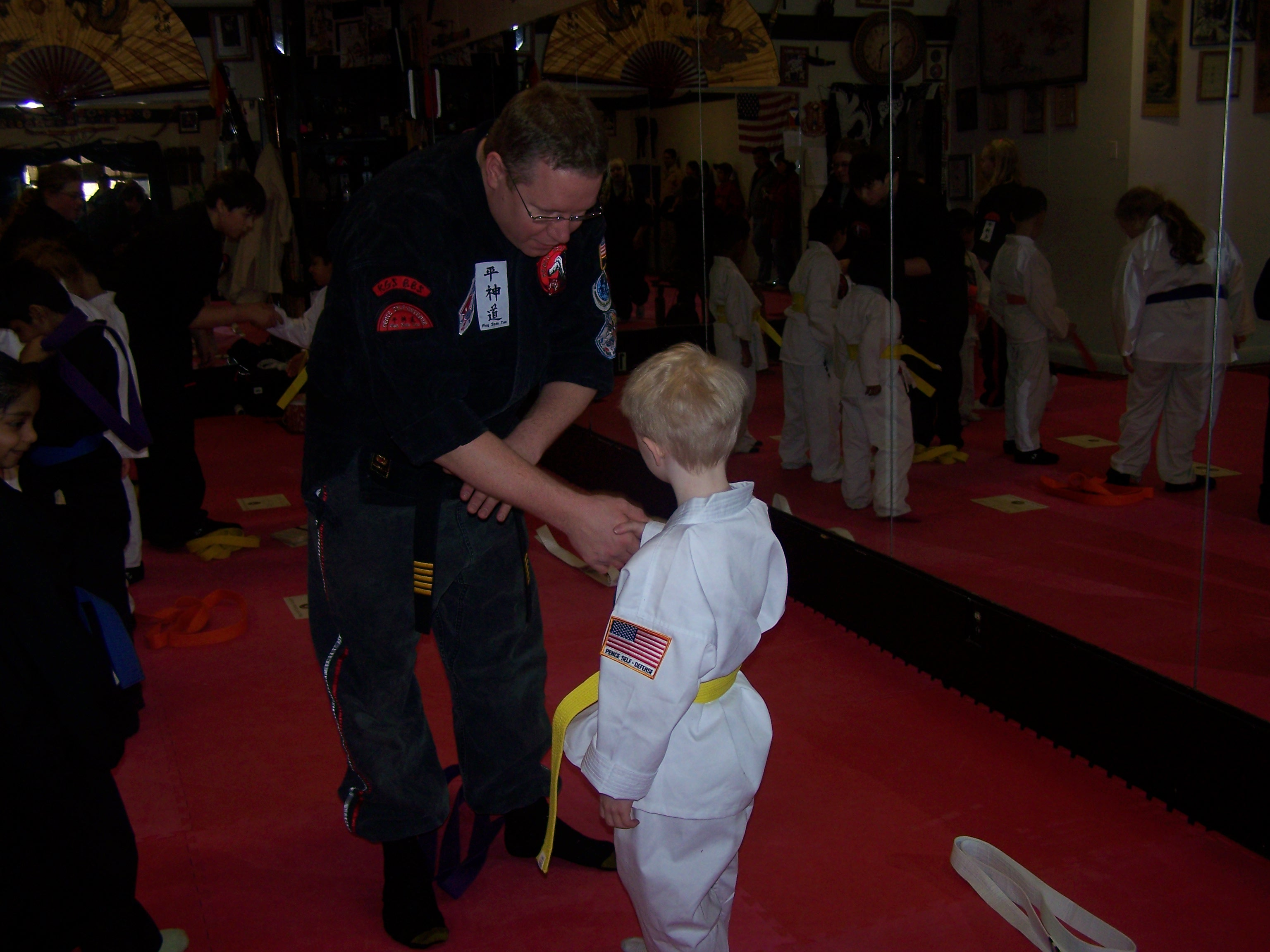 KJ's Yellow Belt  and PROUD Dad